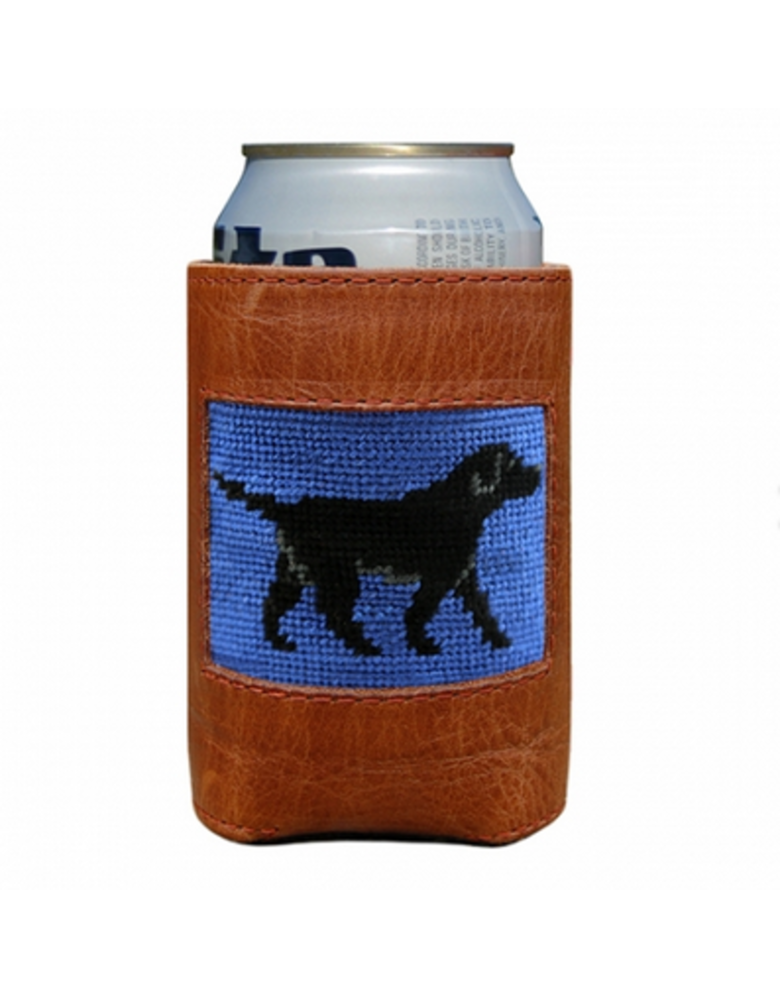 Smathers & Branson S&B Needlepoint Can Cooler, Black Lab