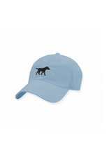 Smathers & Branson S&B Needlepoint Ball Hat, Black Lab on Sky Blue