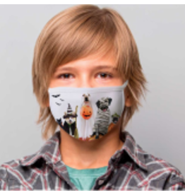 Halloween Pups Cotton Jersey Face Mask
