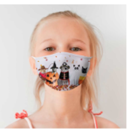 Halloween Cats Cotton Jersey Mask