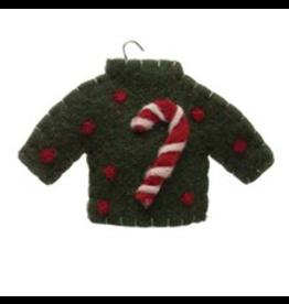 Wool Felt Sweater Ornament (multiple styles)