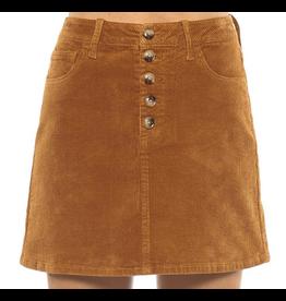 High Rise 5 Button Corduroy Mini Skirt
