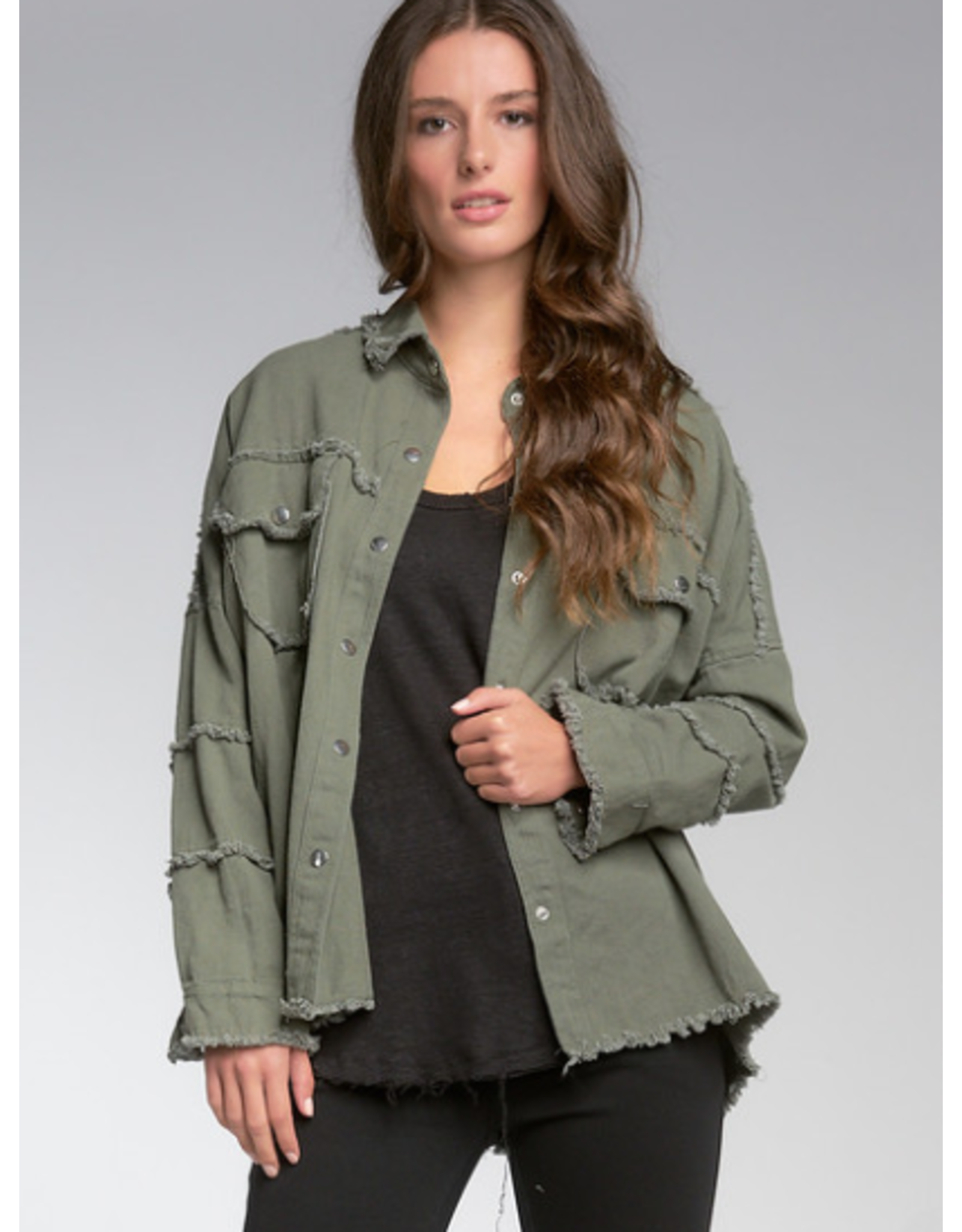 Button Up Jacket with Rock & Roll