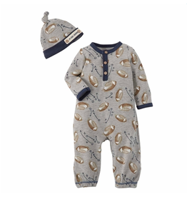 Mud Pie Football Take Me Home Outfit, 0-3 months