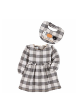Mud Pie Gingham Dress and Bib, 3-6 months