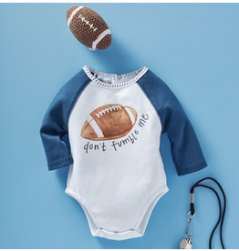 Mud Pie Football Knit Rattle Gift Set