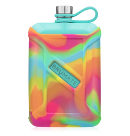 Brumate Liquor Canteen 8 oz w/Rainbow Swirl Cover