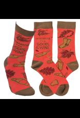 Socks, I'm Thankful for Socks & Wine