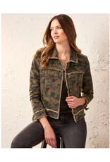 Camo Jacket With Frayed Detail