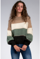 Colorblock Oversize Knit Pullover