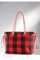 Wool Plaid Tote Bag