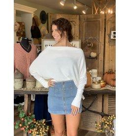Top Off Shoulder Sweater