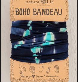 Natural LIfe Boho Bandeau Turquoise/Navy Tie-Dye
