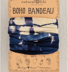Natural LIfe Boho Bandeau Cream/Navy Tie-Dye