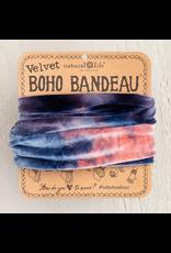 Natural LIfe Half Boho Bandeau, Velvet Navy Tie-Dye