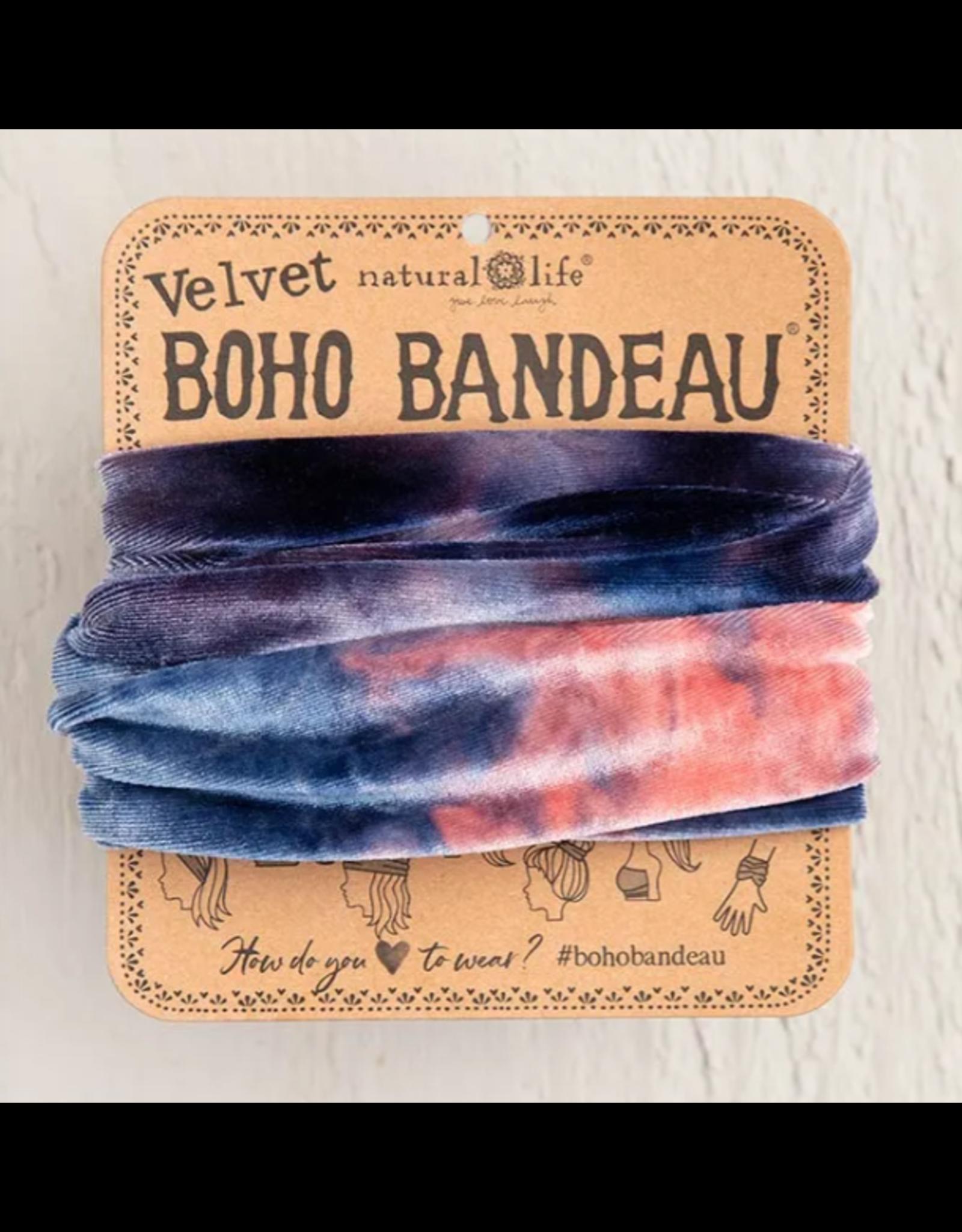 Natural LIfe Boho Bandeau, Velvet Navy Tie-Dye