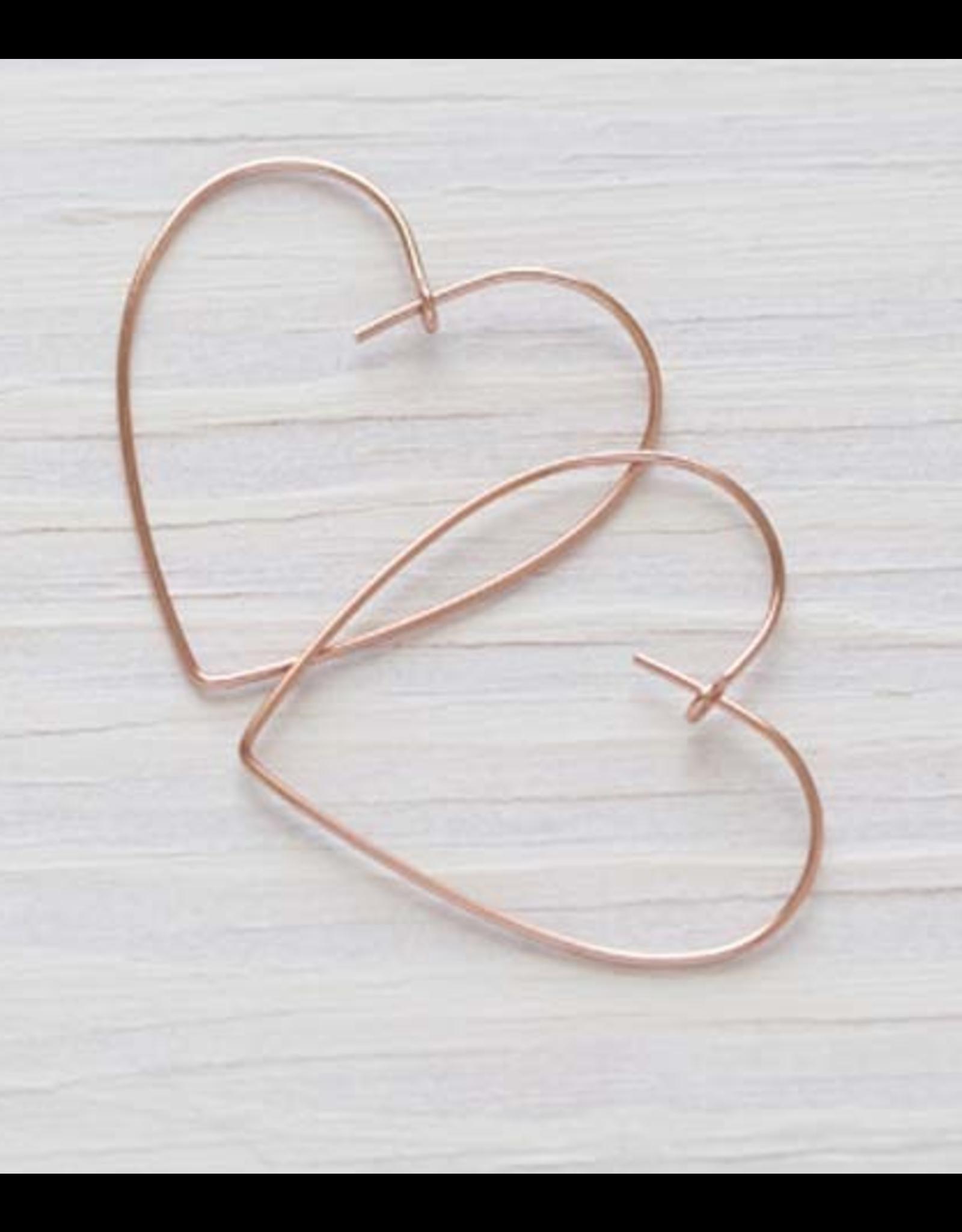 Heart Hoop Earring