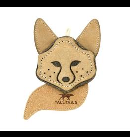 "4"" Leather & Wool Fox Dog Toy"