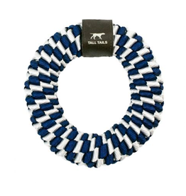 "Large 6"" Braided Ring, navy"