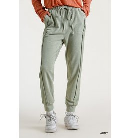 Mineral Washed French Terry Jogger Pants