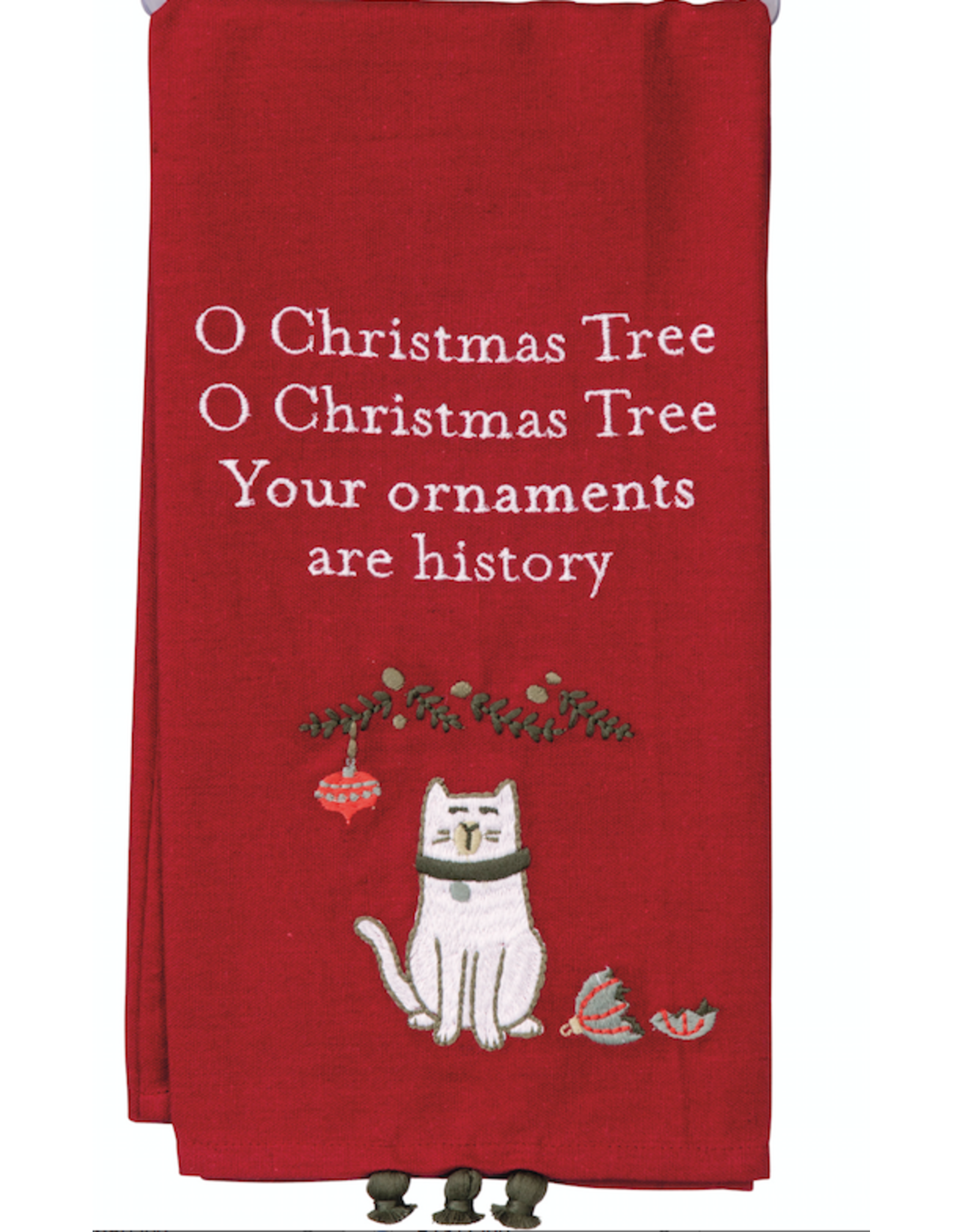 Dish Towel, Your Ornaments Are History