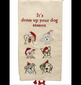 Dish Towel, It's Dress Up Your Dog Season