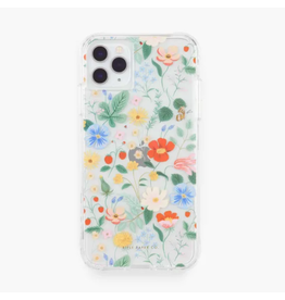 Clear Strawberry Fields iphone 11Pro/X/XS Case