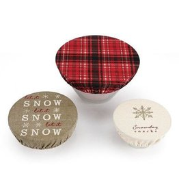 Snowday Snack Dish Cover, Set of 3