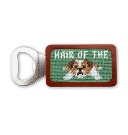 Smathers & Branson S&B Needlepoint Bottle Opener, Hair of the Dog on Green