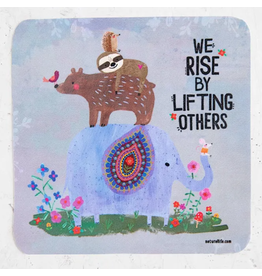 Natural LIfe Vinyl Sticker, We Rise By Lifting