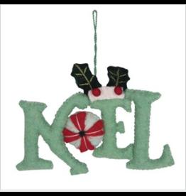 "Wool Felt Ornament w/ Embroidery ""Noel"""