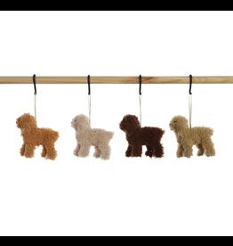 Furry Poodle Ornament