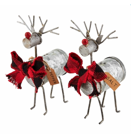 Mud Pie Reindeer Salt & Pepper Set