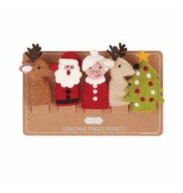 Mud Pie Christmas Finger Puppets, Set of 5