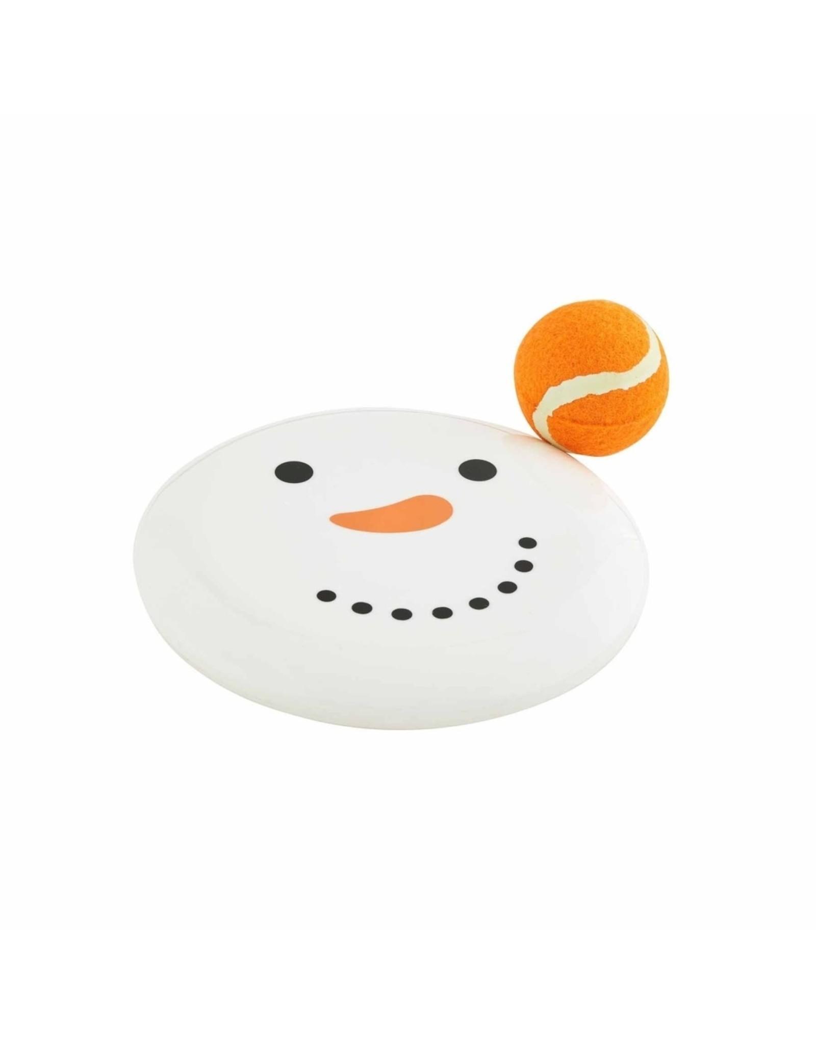 Mud Pie Snowman Disc Tennis Ball Set