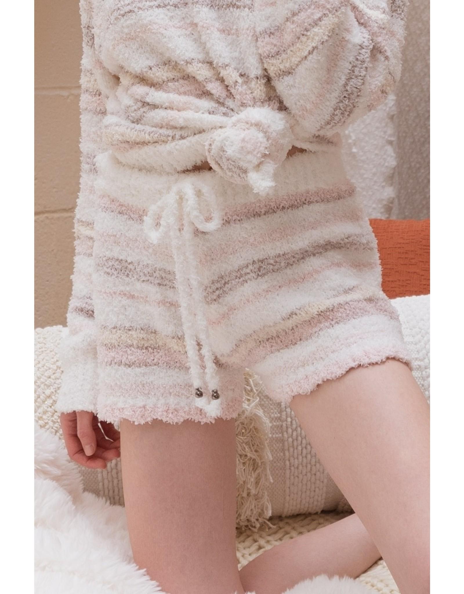 Striped berber fleece 'cozy' pants