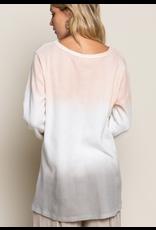 Blended Color Pullover Top