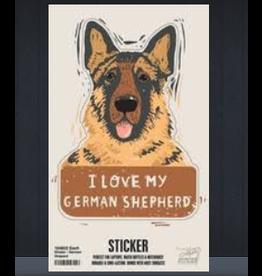 Sticker, I Love My German Shepherd