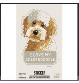 Sticker, I Love My Goldendoodle