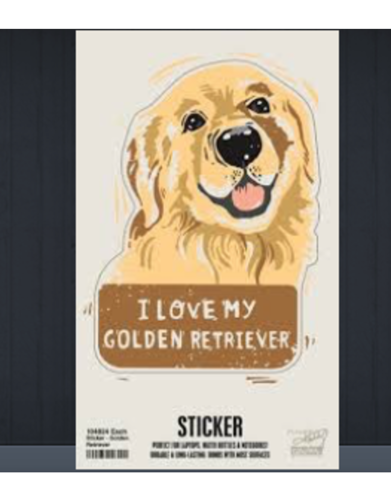 Sticker, I Love My Golden Retriever
