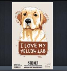 Sticker, I Love My Yellow Lab