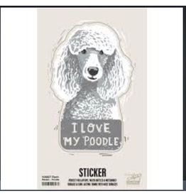 Sticker, I Love My Poodle