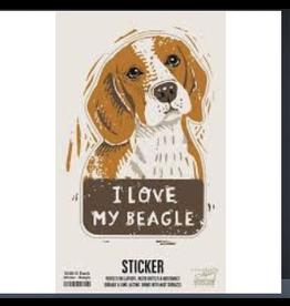 Sticker, I Love My Beagle