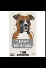 Sticker, I Love My Boxer