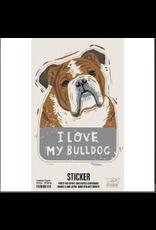 Sticker, I Love My Bulldog