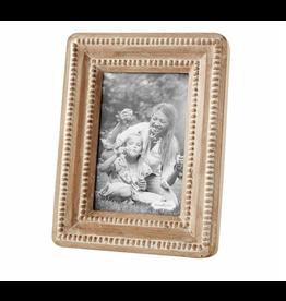 Mud Pie Small Beaded Reclaimed Wood Frame, 4x6