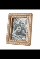 Mud Pie Large Beaded Reclaimed Wood Frame, 5x7