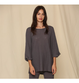 Knit Tunic Sweater, 3/4 sleeve with round neck