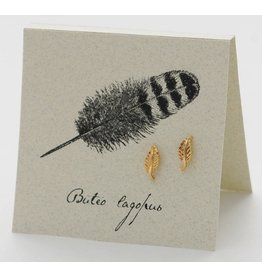 Natural History Feather E/R - gold