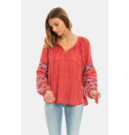 Tala Embroidered Tunic, nomad red